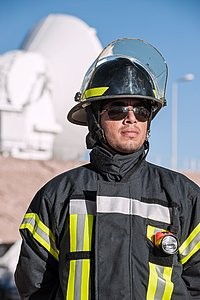 Fireman and medic Aldo Cerda Fernández