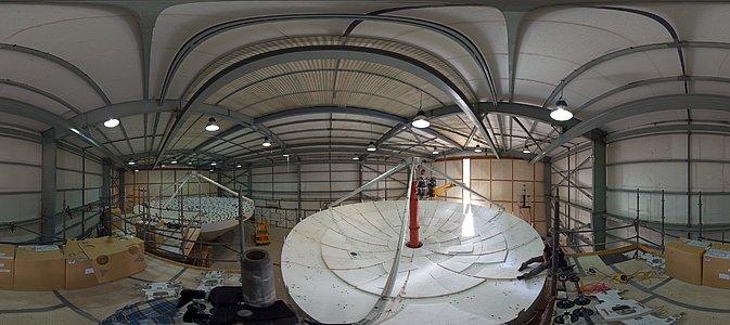 ALMA antennas at the AEM hangar