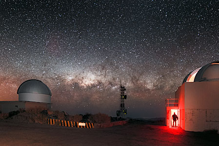 Milky Way on La Silla's horizon