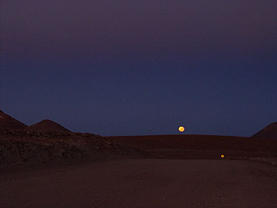 Moonset at ALMA