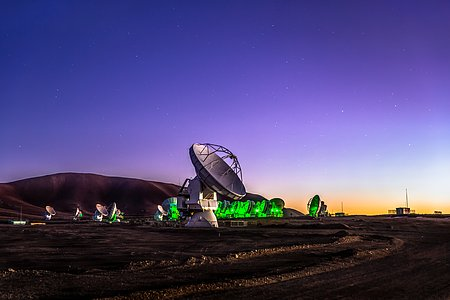 ALMA at twilight
