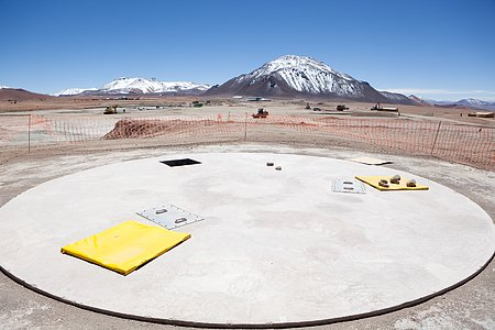 ALMA antenna docking pad.