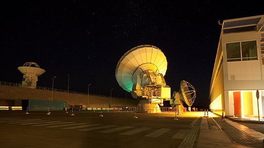 ALMA night time testing
