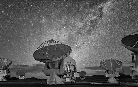 ALMA in frosty monochrome