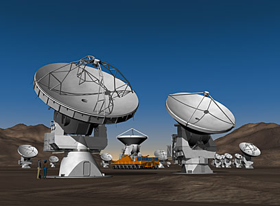 The ALMA Observatory (artist's impression)
