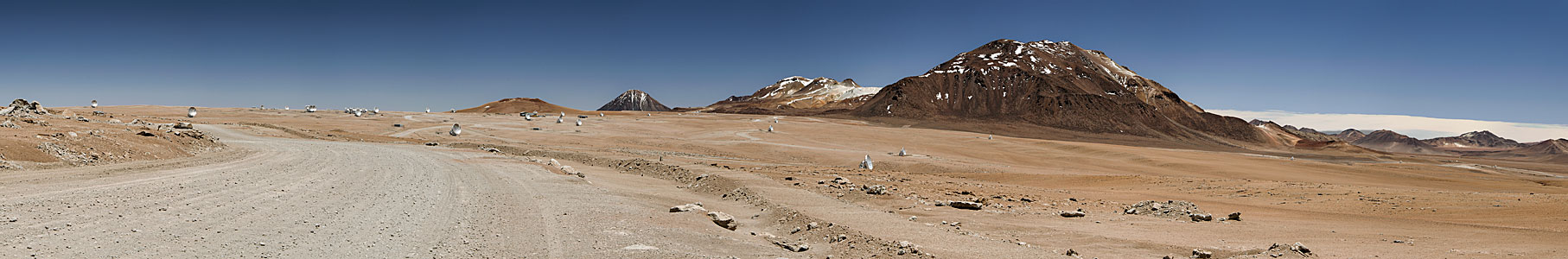 ALMA's antennas spread across the Chajnantor Plateau