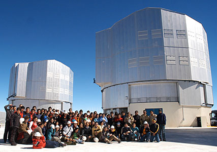Weekend visitors at Paranal