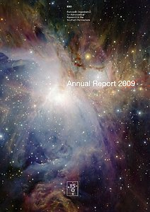 Cover of the ESO Annual Report 2009