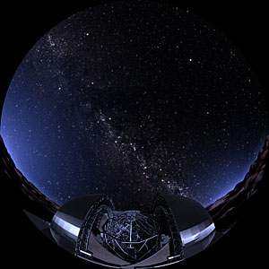 Artist's impression of the E-ELT and the starry night sky