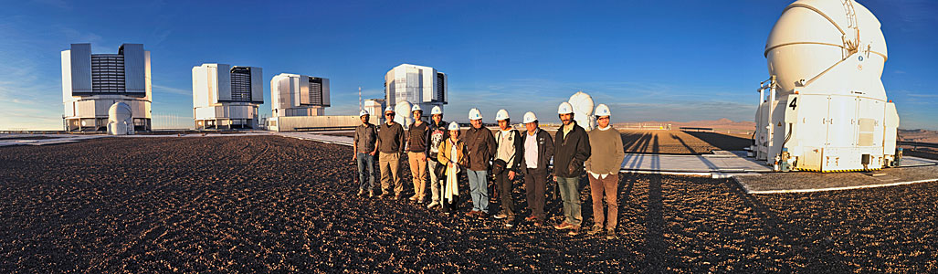 Workshop participants visit the Paranal Observatory