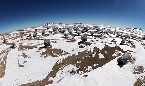 ALMA seen from a hexacopter