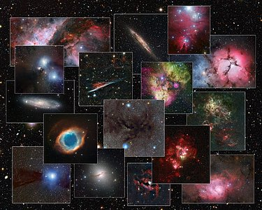 Collage of images from the MPG/ESO 2.2-metre telescope