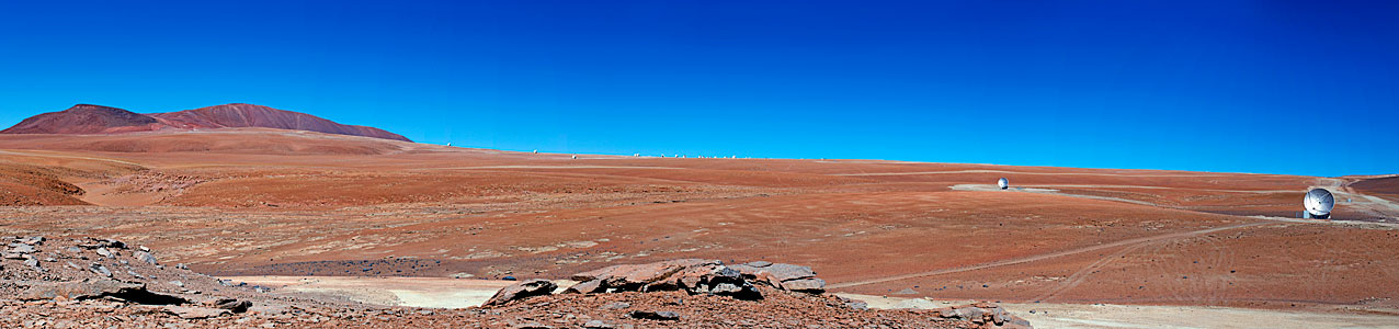 Distant ALMA antenna