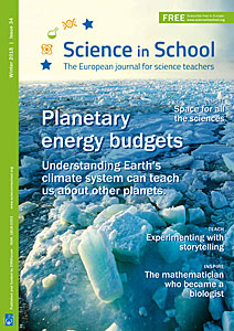 The cover of Science in School Issue 34