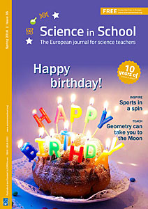 The cover of Science in School Issue 35