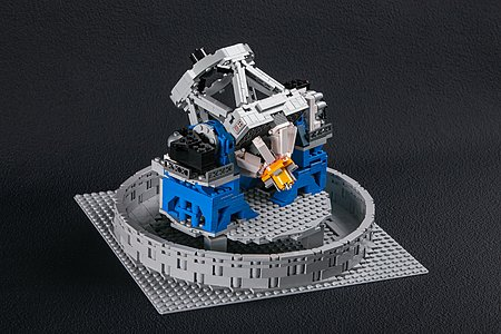 The LEGO® VLT model is fully articulated