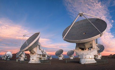 ALMA telescope dishes