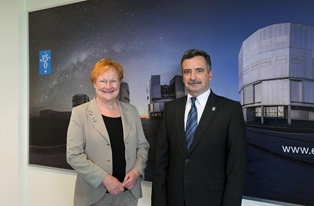 Former Finnish President Tarja Halonen visits ESO in Chile