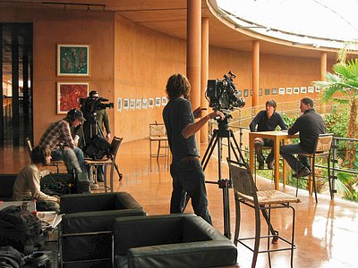 Filming at Paranal