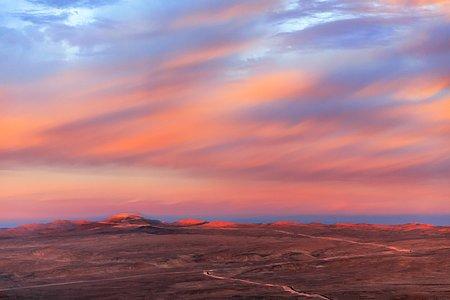 Cerro Armazones pink landscape