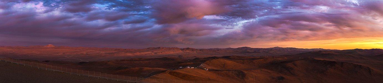 Cerro Armazones illuminated