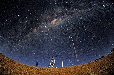 E-ELT site testing — Cerro Armazones by night