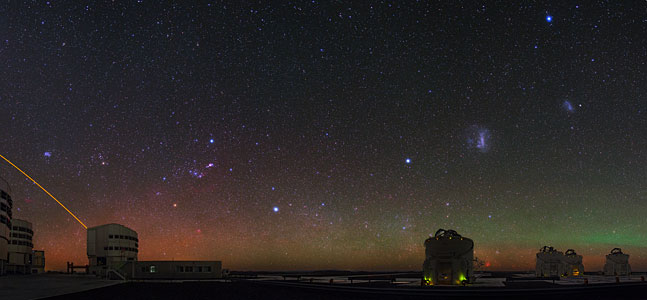 VLT Shows off the Night Sky