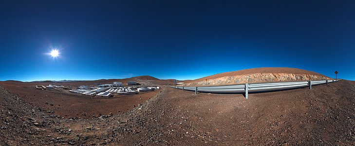 Panoramic of Paranal basecamp
