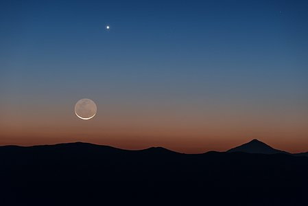 Moon and Venus over Chile