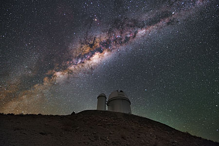 The ESO 3.6-metre telescope and the Milky Way