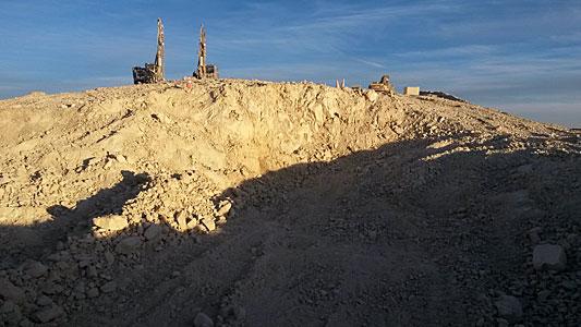 E-ELT Groundbreaking Crater