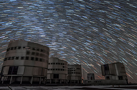Star trails above Paranal