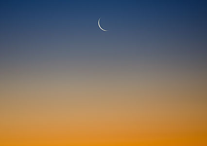 Twilight crescent Moon