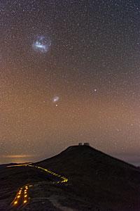 Comet Over Paranal