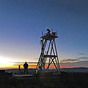Watching the Sunset at Cerro Armazones