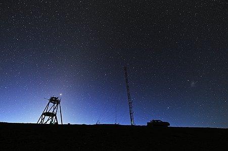 Cerro Armazones kurz vor Sonnenaufgang