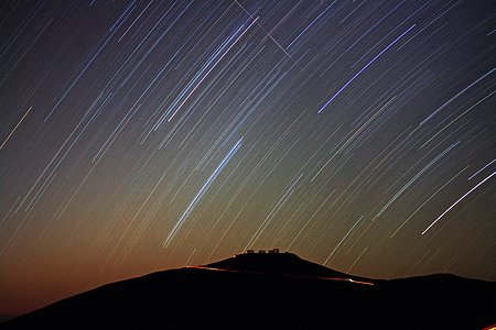 Star trails over VLT