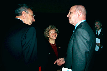 Catherine Cesarsky, Philippe Busquin and Prof. Paul Pâquet at ESO Information Day