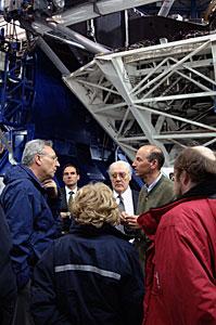 Philippe Busquin visiting Paranal