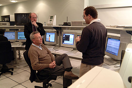 Philippe Busquin visiting Paranal