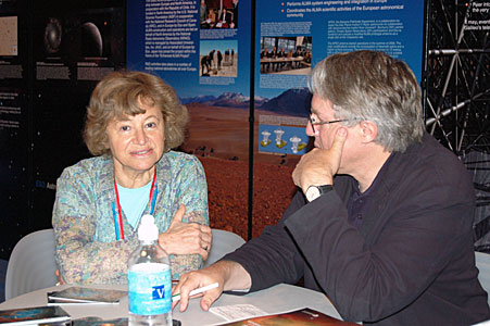 Catherine Cesarsky and Claus Madsen at SPIE Astronomical Telescopes and Instrumentation symposium