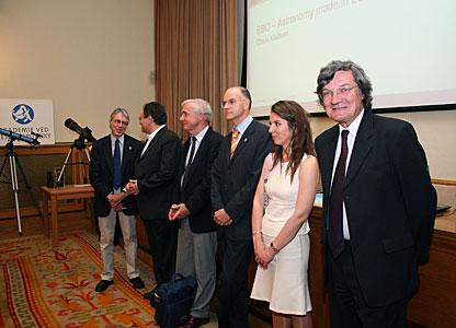 Jan Palouš with ESO delegation at ESO Information Day
