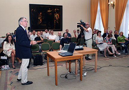 Claus Madsen speaking at ESO Information Day