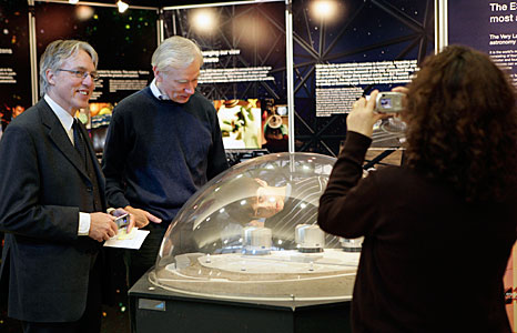 Claus Madsen and Evert Meurs at the ESO information stand at Dublin City University