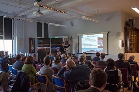 Mark Casali presenting the E-ELT and ESO at Trinity College, Dublin