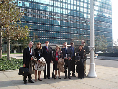 IAU delegation at the UN
