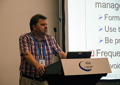 Adrian Russel presenting the E-ELT