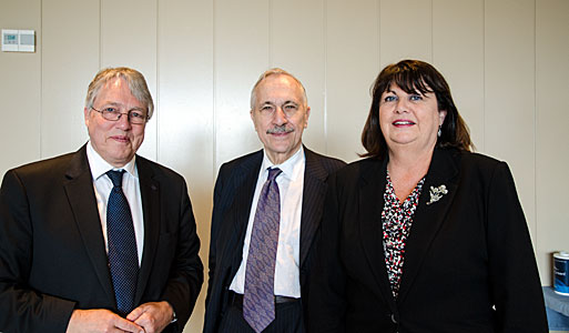 Meeting between Claus Madsen, Carlo Rizzuto and Maire Geoghegan-Quinn