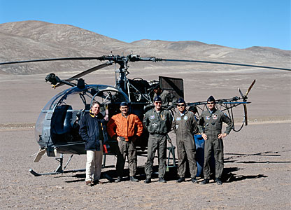 Claus Madsen with Chilean Air Force