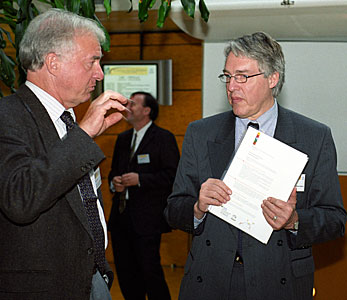 Martin Cullum and Claus Madsen at first EIROforum Technology Transfer Conference